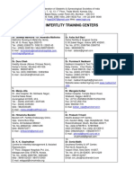 Infertility Training Centers List December 2017