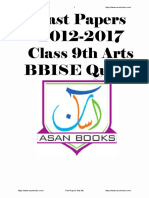 Baclochistan Board of Intermediate and Secondary Education Past Papers  9th Arts 5years