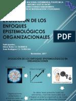 Evolucion de Los Enfoques Epistemológicos en Investigaciones Organizacionales