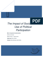 The Impact of Social Media on Political Participation