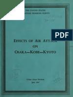 USSBS Reports No.58, Effect of Air Attack on Osaka-Kobe-Kyoto