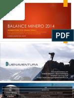 Balance Minero 2014
