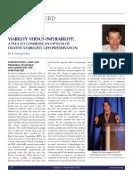 Viability Versus Inferability