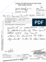 Court Order 85 Bowery Timeline