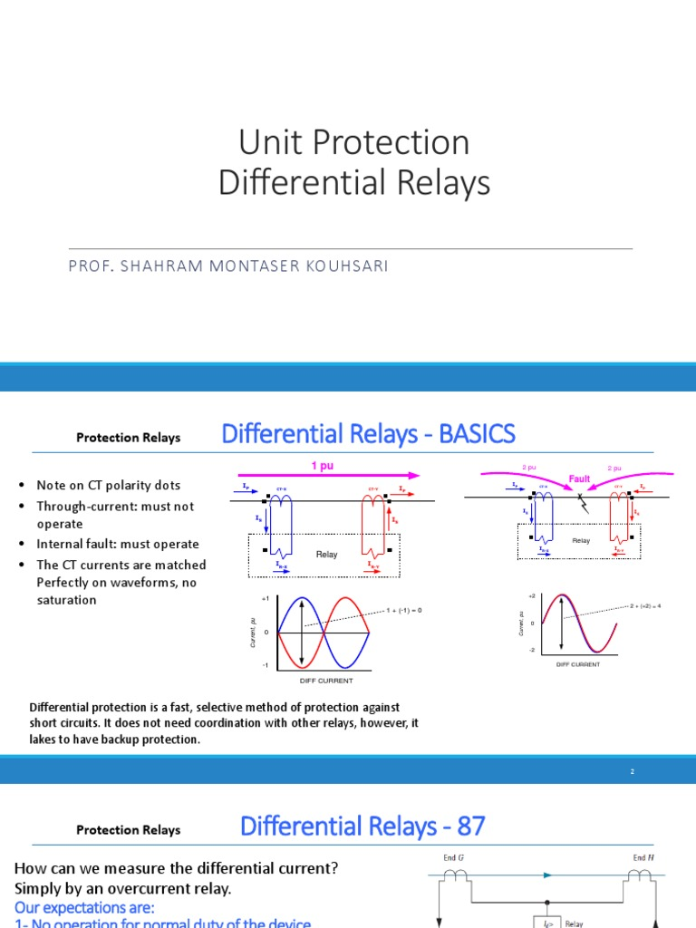 Differntial Relay | Relay | Resistor