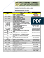 Calendário Cbk - 07-02-2018