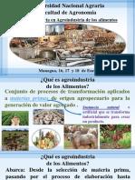 Agroindustria de Los Alimentos Presentacion 2018