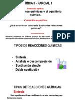 Clase 4 Tipos de Reacciones Químicas