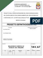 Tav. A7 - Relazione Di Verifica Di Stabilità Del Versante