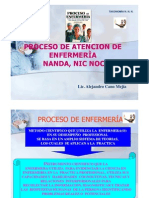 Proceso del Cuidado de  Enfermeria-ACanoM