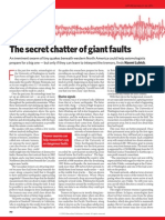 The Secret Chatter of Giant Faults
