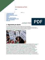 Aborto en Caso de Violación en Perú