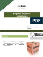 Regimen Aduanero Importación