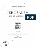 Vogüé, Jérusalem Hier Et Aujourd'Hui, 1912