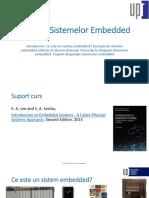 Designul Sistemelor Embedded Introducere