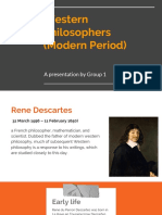 Western Philosophers (modern period)