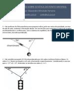 Lista de Exercícios Estática Do Ponto Material
