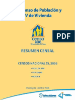 Nicaragua - Resumen Censal 2005