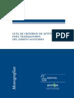 Guia de Criterios de Aptitud Para Trabajadores Del Ambito Sanitario