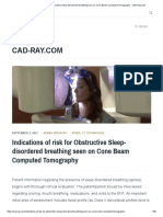 Indications of Risk for Obstructive Sleep-disordered Breathing Seen on Cone Beam Computed Tomography - CAD-Ray