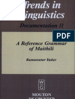 A Reference Grammar of Maithili OCR