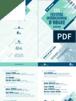 XXV Festival d'Orgue