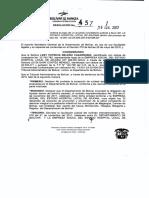 Resolucion No. 457 - 2017