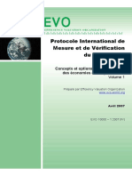 Protocole International de Mesure Et de Verification Du Rendement de l'Energie