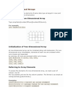 Two Dimensional Array