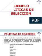 Ejemplo de Politicas Seleccion