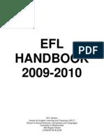 EFL Student Handbook 09 10 August 2009