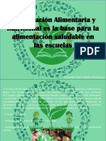 Armando Nerio Guedez Rodríguez - La Educación Alimentaria y Nutricional Es La Base Para La Alimentación Saludable en Las Escuelas