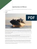 Principales Importaciones de México-2016
