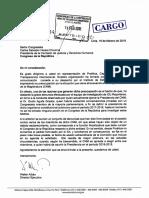 Carta dirigida al Presidente de la Comisión de Justicia y Derechos Humanos, Carlos Salvador Heresi Chicoma