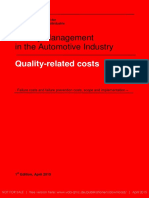 VDA Volume Quality-related Costs