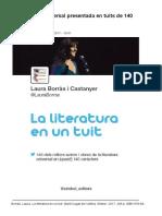 La Literatura Universal Presentada en Tuits de 140 Caràcters