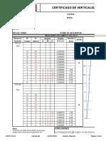 Formato de Certificado de Verticalidad de Torre