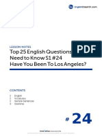 24 Have You Been to Los Angeles