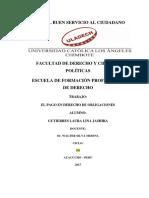 DEFINICION Y CONCEPTO DE EL PAGO