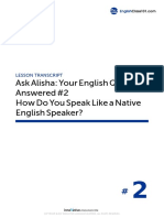 02 How Do You Speak Like a Native English Speaker