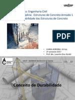 AULA 07 - CA 1 - Durabilidade Das Estruturas de Concreto