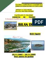 BILAN DE L'APC RCD TIGZIRT