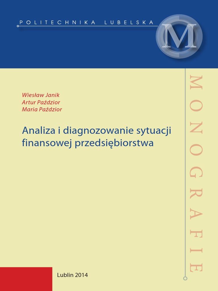 6ed92f2065a67 Analiza i Diagnozowanie Sytuacji Finansowej Przedsiębiorstwa
