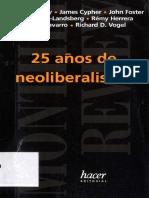 AA. VV. - 25 Años de Neoliberalismo