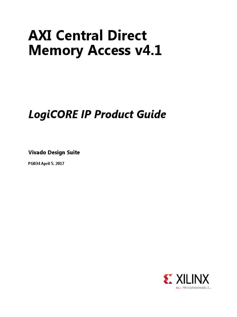 Pg034 Axi Cdma | Computer Architecture | Electronics