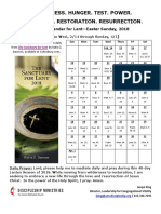 prayer calendar for lenten season 2018