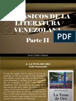 Javier Ceballos Jiménez - 10 clásicos de la literatura venezolana, Parte II
