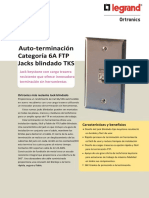 Auto-termianción Cat 6A 10G FTP Ortronics Legrand TKS