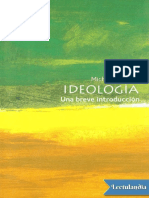 Ideologia Una Brevisima Introduccion - Michael Freeden