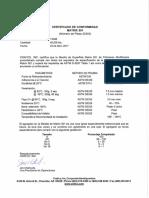 Certificados de Calidad Matrix